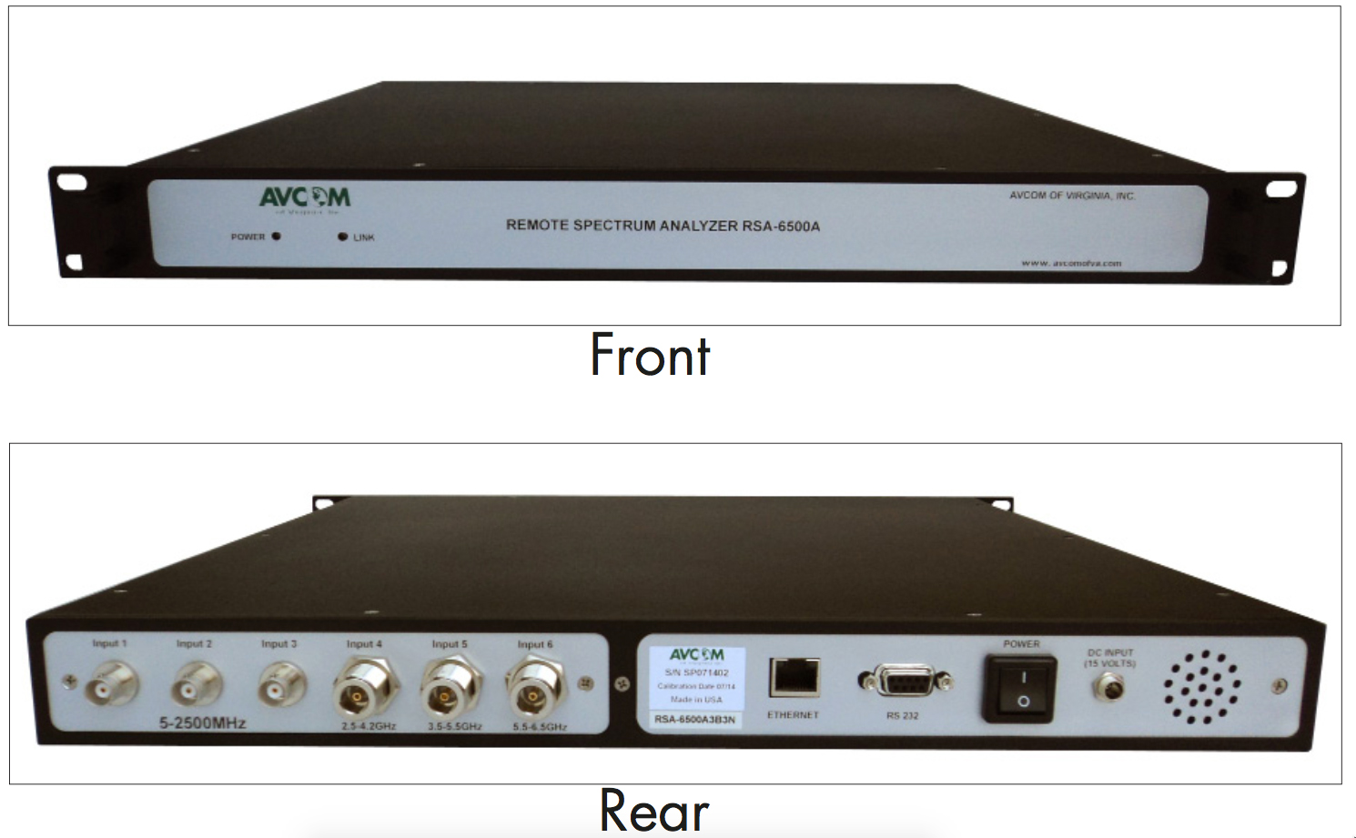 Rack Mount Wideband Analyzer